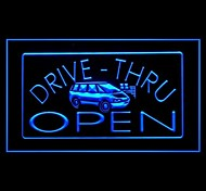 Drive Thru Car Open Advertising LED Light Sign