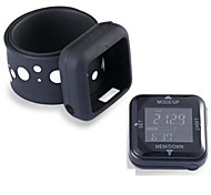 Multifunctional Calorie Wristband Pedometer Watch with Step Counter and Sport Goal Setting (Black)