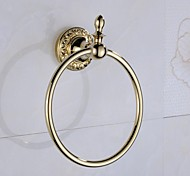 Towel Ring Ti-PVD Wall Mounted 17*6*21cm(6.69*2.4*8.3inch) Brass Antique