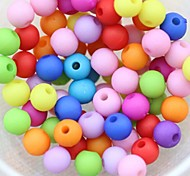 z&X® Beads DIY doce cor material de pérolas arenosos 10mmx10mm 100 unidades (cor aleatória, padrão)