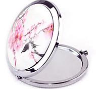 Cerâmica dobráveis estilo retro 1 pcs nacional espelho de maquilhagem