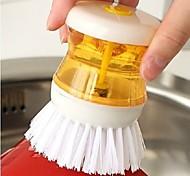 Dish Washing Pressure Liquid Soap Scrubby Brush (Random Color)