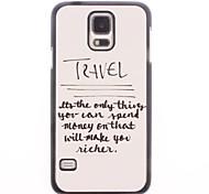 Unique Design To Travel Pattern Aluminium Hard Case for Samsung Galaxy S5 I9600