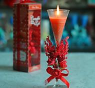 aromaterapia velas vermelhas para festa de casamento