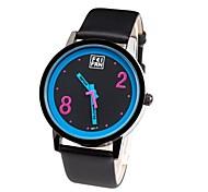 Women's Black Dial Leather Band Analog Quartz Wrist Watch
