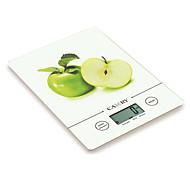 5kg/11lb lcd balanza de cocina digital con 14mm de espesor delgado y 3 mm de vidrio templado
