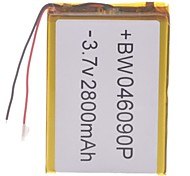 "Universal Replacement 3.7V 2800mAh  Li-polymer Battery for 7~10"" Macbook Samsung Acer Sony Apple Tablet PC(4*60*90)"