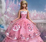 Barbie Doll Pink Braces Party Dress