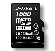 16GB J-like Class 10 MicroSDHC TF Memory Card