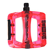 YELVQI Plastic-Steel Red Bicycle Pedals