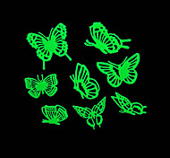 lumières maison romantique de nuit absorptiométrique autocollants-papillon