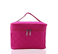 Portable Nylon Checkered Makeup  Bag Cosmetics Bag / Tote