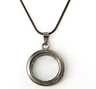 30mm Alloy Round Magnetic Glass Floating Living Charm Locket Pendant