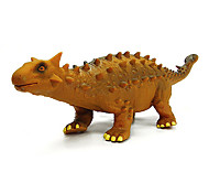 Ankylosaur Dinosaur Model Rubber Action Figures Toy(Yellow)