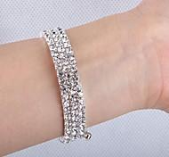 Fashion 5.3cm Women's Silver Alloy Bracelet