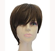 Capless Synthetic Short Straight  Mixed Color Synthetic Hair Full Wig