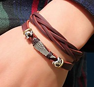 Wrap Bracelet Leather Unique Design Fashion Others Wings / Feather Jewelry 1pc