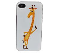 Modelo de la jirafa encantadora PC nuevo caso para el iPhone 4/4S