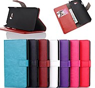 PU Leather Full Body Case with Stand and Card Slot for LG L80 (Assorted Colors)
