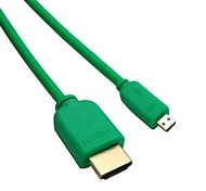 cable hdmi micro macho HDMI a HDMI v1.4 macho verde