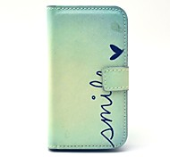 Smile Pattern PU Leather Case with Card Holder for Samsung Galaxy Trend Duos S7562