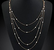 Ladies Fashion  Metal Chain Necklace
