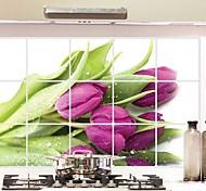 Doudouwo ® Florals Тюльпан Анти-Нефть стены стикеры