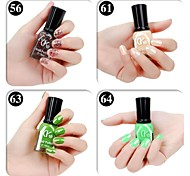 4 Colors Green Candy Color Nail Polish(16ml,Assorted Colors)