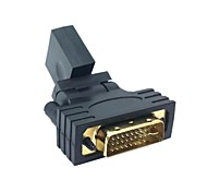 Maschio DVI a HDMI 1080p V1.3 femminile girante da 360 gradi Adattatore girevole per HDTV Scheda Video spedizione gratuita