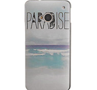 Letters and the Sea Design PC Hard Case for HTC ONE M7