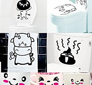 Cartoon  Funny Desigh  Environmental Plastic Free stickers(Color x1pcs)