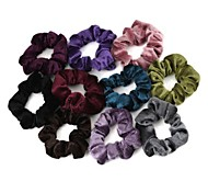 Elastic Velvet Hair Ties(5Pcs/Package)(Mixed Colors)