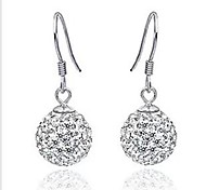Fashion Import Crystal Full Drill Ball Drop Earrings