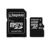 Kingston 64GB microSDXC Class 10 Flash Memory Card with SD Adapter