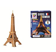 Educational Toys Famous Construction Building Model Eiffel Tower 3D puzzles(20PCS, B668-2)