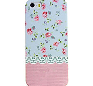 Glow in The Dark Lace Country Style Flower Painting Case for iPhone 4/4S(Assorted Colors)