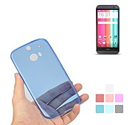 Angibabe 0,45 mm Transparent Soft-Jelly TPU Gel Slim Case für HTC One M8/One 2