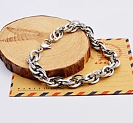 argent multicouches bracelets de chaîne d'acier inoxydable des hommes de mode