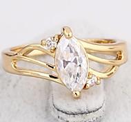 Women's New Arrival Gold Plated Hot Selling Elegant Zircon Rings