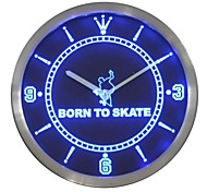 Born to Skate Home Decor Neon Sign LED Wall Clock