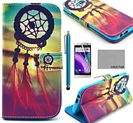 COCO FUN® Dreamcatcher Pattern PU Leather Full Body Case with Screen Protector, Stylus and Stand for HTC One M8