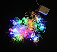 Los 5M 40-LED Multicolor Luz Butterfly Wedding Party lámpara de la secuencia de la Navidad (220)