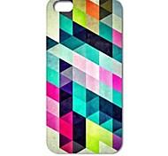caso duro del patrón de rompecabezas de diamantes de colores para el iphone 4 / 4s