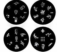 1pcs nail art carimbo de imagem da placa de estampagem modelo b série no.5-8 (padrão assorted)