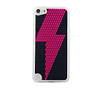 Pink Lightning Leather Vein Pattern PC Hard Case for iPod touch 5