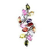 European And American Fashion Ladies Multicolor Rhinestone Couple Rings(Blue,Yellow,Red,Pink and more)(1Pc)