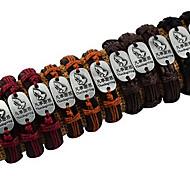 спасибо в каждом вещь буквы кожаной ткани сплава черного браслет обруча (1 шт) случайный цвет