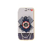 Korean Version Cloth Flowers Series Style Blue Colors Navy Icon PU Leather Full Body Cases for iPhone 5/5S