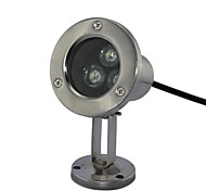 3W Underwater Lights 3pcs High Power LED 240-270lm lm Cool White DC 12 / AC 12 V 3 pcs