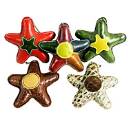 Starfish Shape Genuine Leather Artware Chewing Toy  for Pets Dogs(Random  Color)